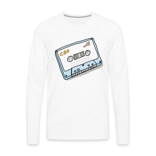 Cassette - Männer Premium Langarmshirt