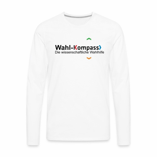 Wahl-Kompass Logo mit Slogan - Männer Premium Langarmshirt