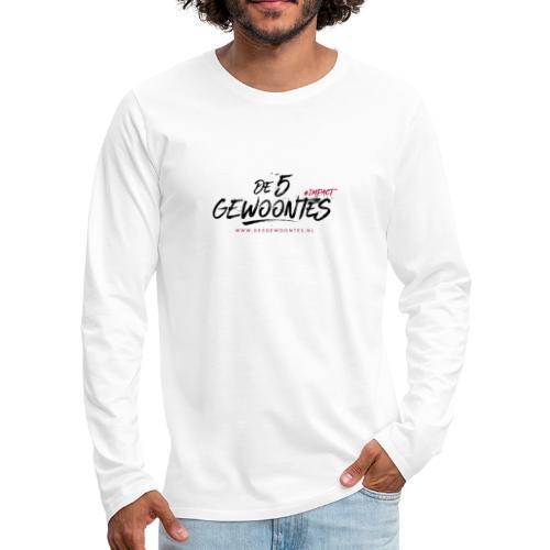 Logo de 5 gewoontes zwart - Mannen Premium shirt met lange mouwen
