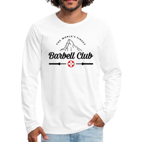The world's finest Barbell Club _black - Männer Premium Langarmshirt
