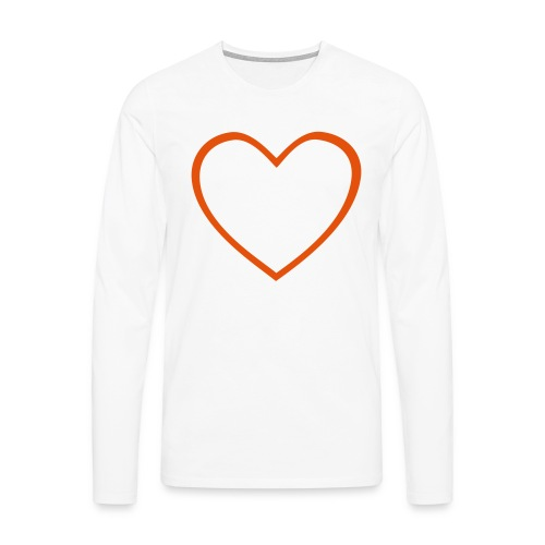 Hjärta 4 - Långärmad premium-T-shirt herr
