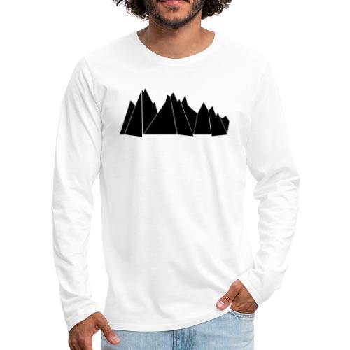 BlackMountains - Männer Premium Langarmshirt