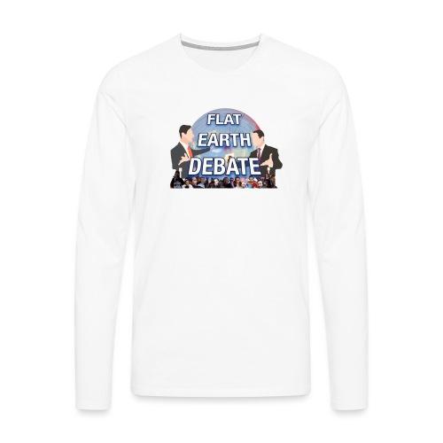 Flat Earth Debate Transparent - Men's Premium Longsleeve Shirt