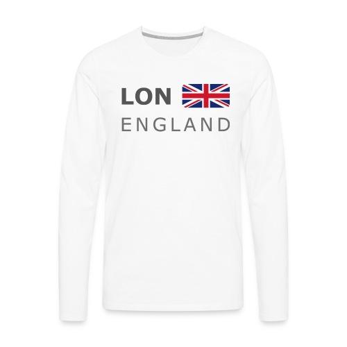 LON ENGLAND BF dark-lettered 400 dpi - Men's Premium Longsleeve Shirt