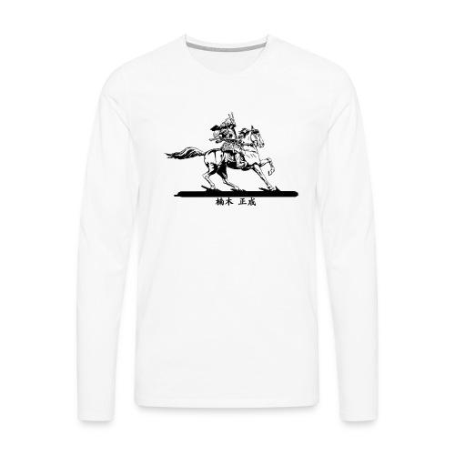 Kusunoki Masashige Black - T-shirt manches longues Premium Homme