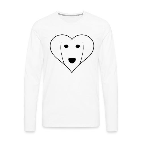 Saluki Heart - Maglietta Premium a manica lunga da uomo