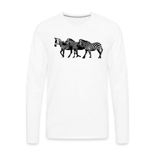 zebre - T-shirt manches longues Premium Homme