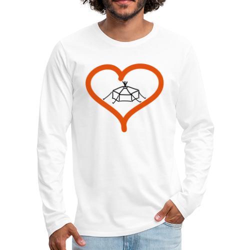 Herzjurte - Männer Premium Langarmshirt