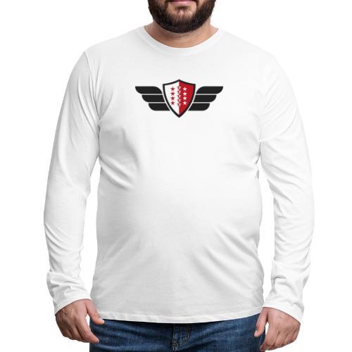 Flying Valais - Walliser Flagge mit Flügeln - Männer Premium Langarmshirt