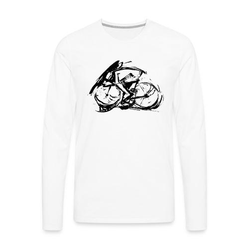 futuristischer radfahrer - Männer Premium Langarmshirt