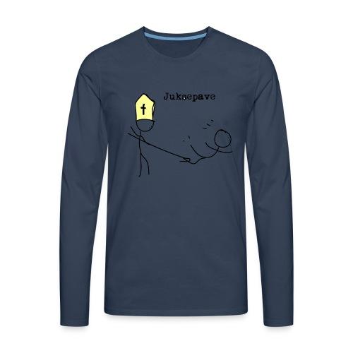 juksepave png - Premium langermet T-skjorte for menn