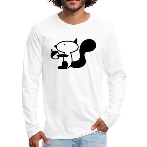 squirrelbw - Mannen Premium shirt met lange mouwen