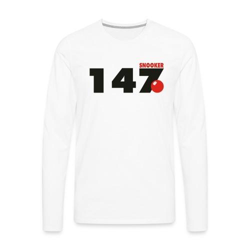 147 Snooker - Männer Premium Langarmshirt