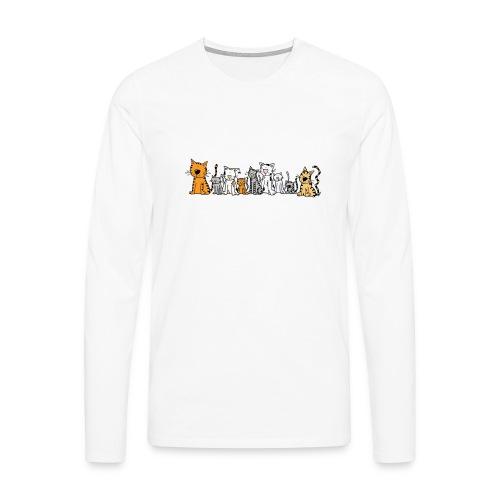 Cats & Cats - Mannen Premium shirt met lange mouwen
