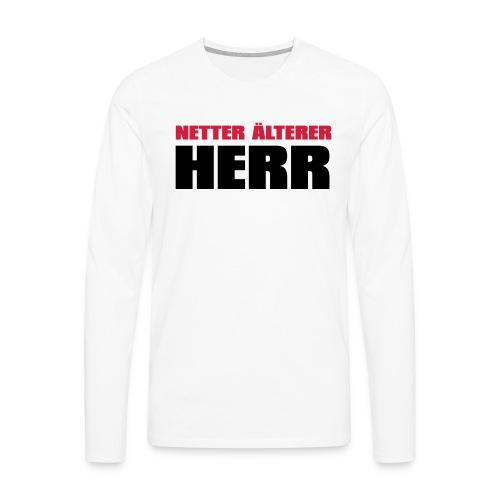 Netter älterter Herr - Männer Premium Langarmshirt