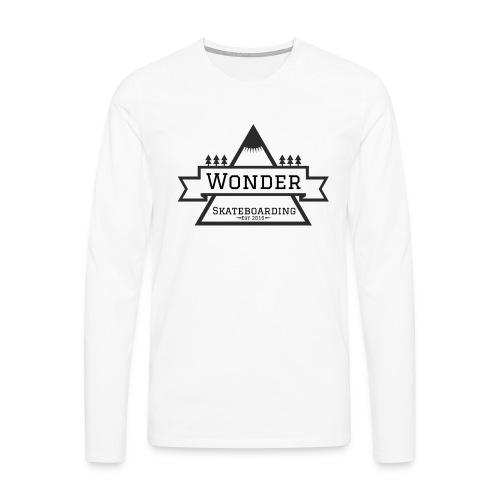 Wonder T-shirt: mountain logo - Herre premium T-shirt med lange ærmer