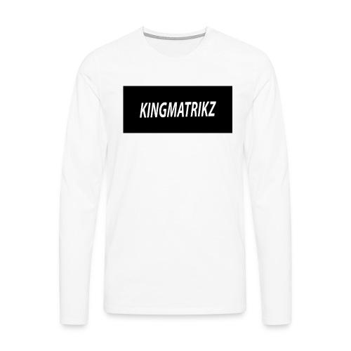 kingmatrikz - Herre premium T-shirt med lange ærmer