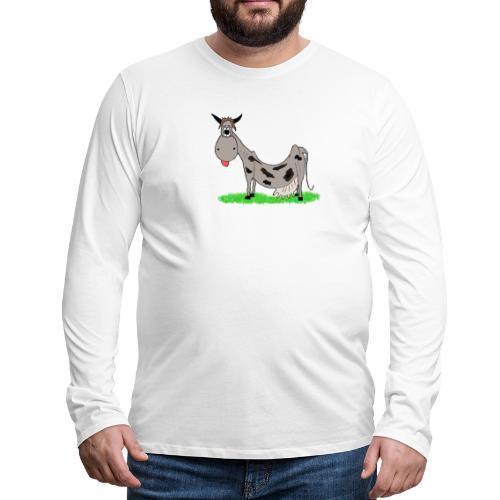 Kuh, Comic, Cartoon - Männer Premium Langarmshirt