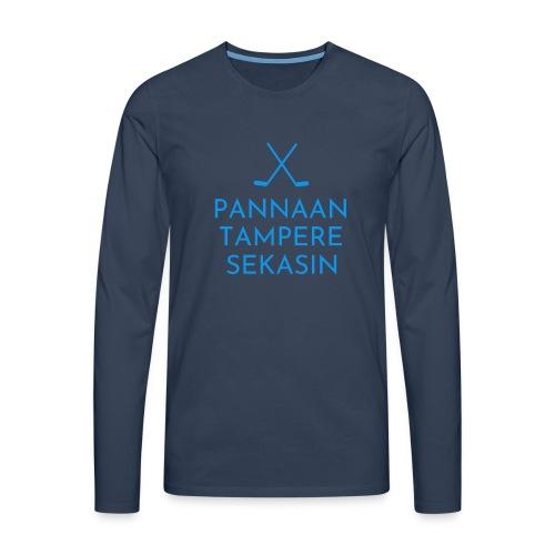 Pannaan Tampere Sekasin - Miesten premium pitkähihainen t-paita