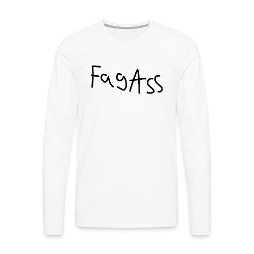 Fag Ass Logo #1 - Herre premium T-shirt med lange ærmer