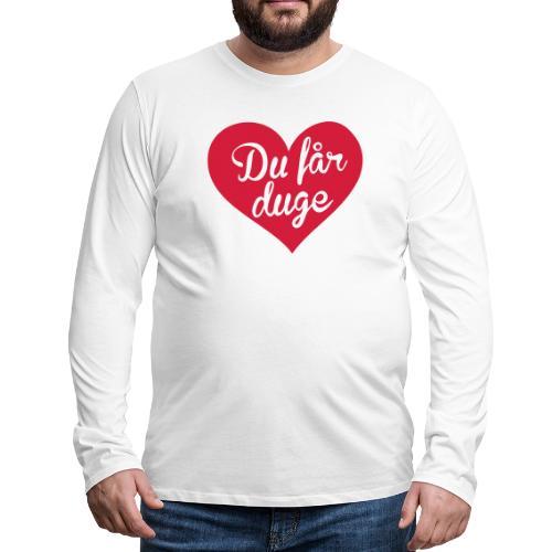 Ekte kjærlighet - Det norske plagg - Premium langermet T-skjorte for menn