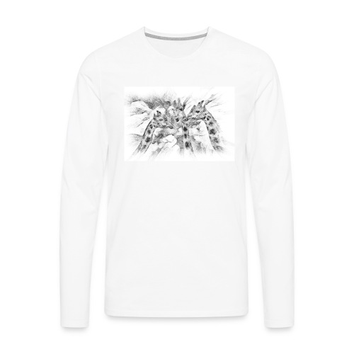 les girafes bavardes - T-shirt manches longues Premium Homme
