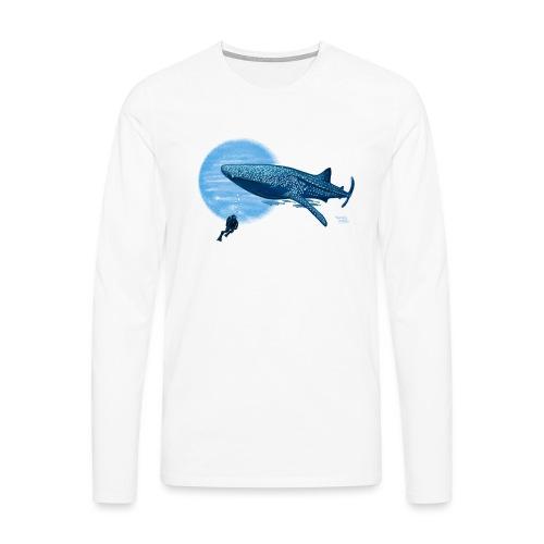 Walvishaai en duiker - T-shirt manches longues Premium Homme