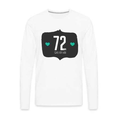 72DPI - Mannen Premium shirt met lange mouwen