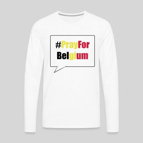 #PrayForBelgium - T-shirt manches longues Premium Homme