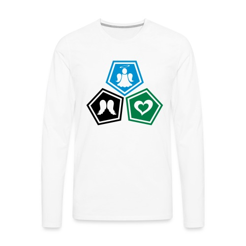 Tee shirt baseball Enfant Trio ange, ailes d'ange - Men's Premium Longsleeve Shirt