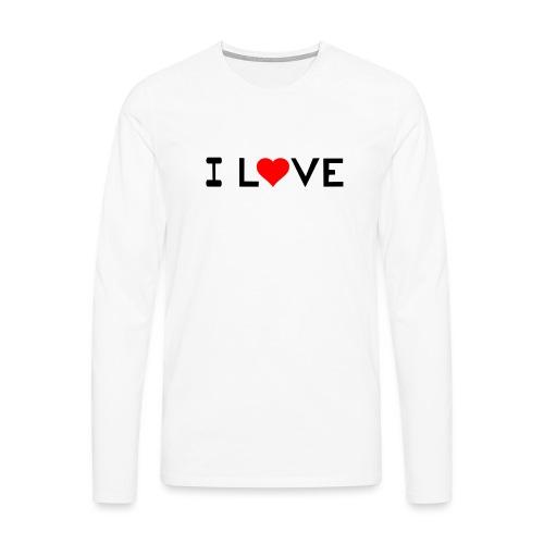 I love - Men's Premium Longsleeve Shirt