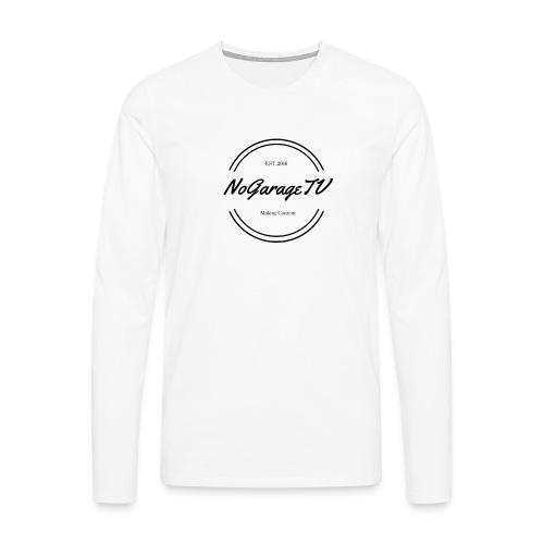 NoGarageTV (3) - Herre premium T-shirt med lange ærmer