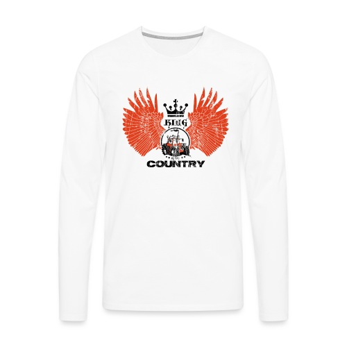 WINGS King of the country zwart rood op wit - Mannen Premium shirt met lange mouwen