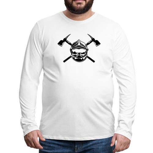 casque_pompier_2 haches - T-shirt manches longues Premium Homme