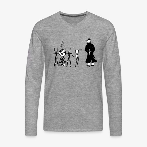 Pissing Man against human self-destruction - Männer Premium Langarmshirt