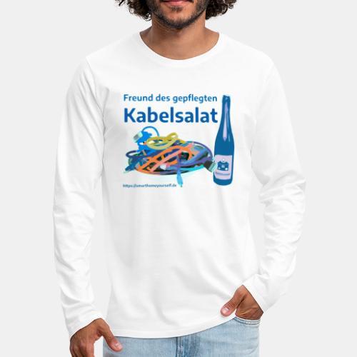 Freund des gepflegten Kabelsalat - Comic - Männer Premium Langarmshirt