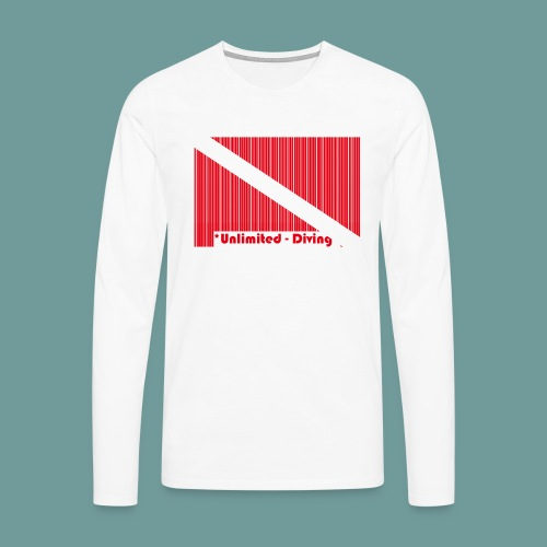 flag_barre_ud - T-shirt manches longues Premium Homme