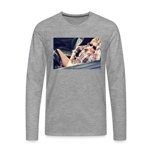Cool woman in car - Men's Premium Longsleeve Shirt