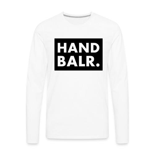 Handbalr Wit - Mannen Premium shirt met lange mouwen