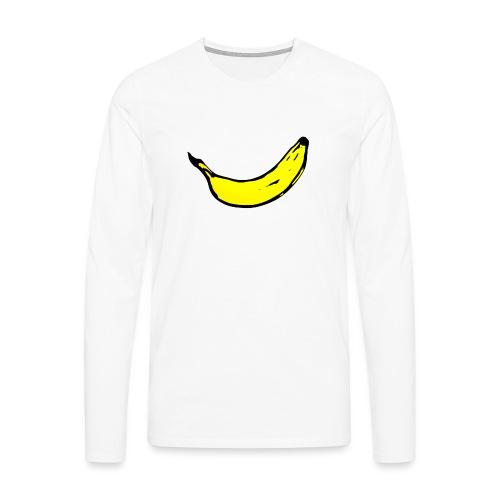 Banan 1 - Långärmad premium-T-shirt herr