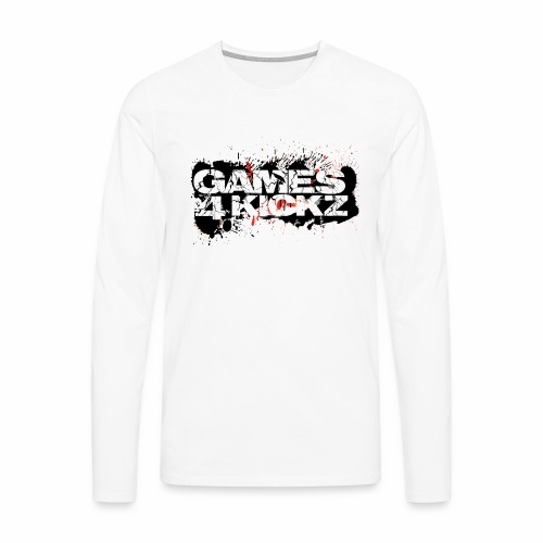 Games4Kickz Logo Splattered Background - Men's Premium Longsleeve Shirt
