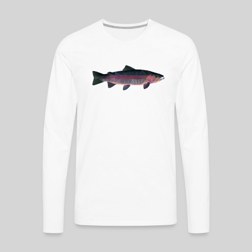 Trout - Miesten premium pitkähihainen t-paita