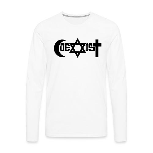 coexist - Männer Premium Langarmshirt
