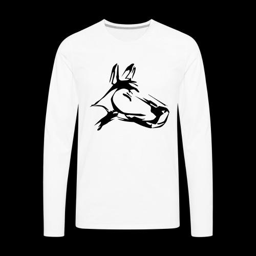 der hund 10 x 10 - Männer Premium Langarmshirt