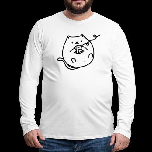 classic fat cat - Männer Premium Langarmshirt
