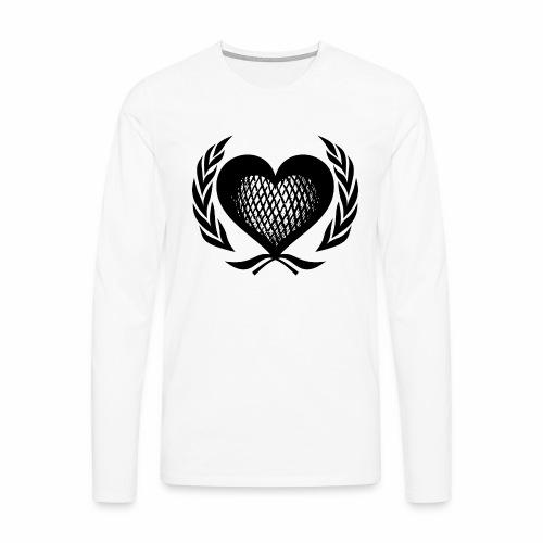 Herz Kranz Gitter Netz Logo Emblem Geschenkidee - Männer Premium Langarmshirt