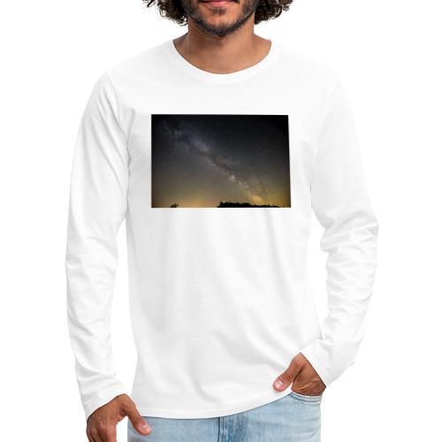 Milchstraße - Männer Premium Langarmshirt