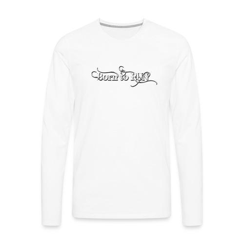 Born-to-RUN---Logo---White.png - Männer Premium Langarmshirt