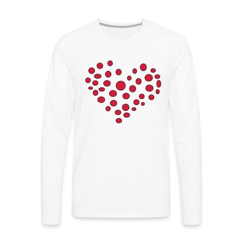 Polka - Herre premium T-shirt med lange ærmer