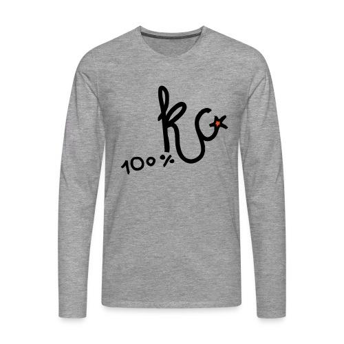 100%KC - Mannen Premium shirt met lange mouwen